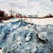 Snow On Southwick Art Print by Elizabeth Carr