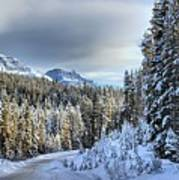 Snow On The Bow Valley Parkway Art Print
