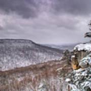 Snow On The Plateau Art Print