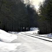 Snow On Tracks Art Print