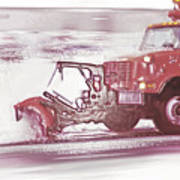 Snow Plow In Business Park 2 Art Print