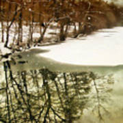 Snow Pond Art Print