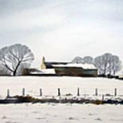 Snow Scene Barkisland Art Print