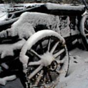 Snow Wagon Art Print