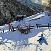 Snowballers Art Print