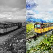 Snowdon Train Art Print
