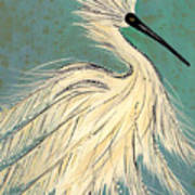 Snowey Egret tropical Art Print