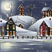 Snowflake Cove Art Print