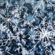 Snowflake Greetings Art Print