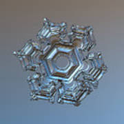 Snowflake Photo - Cold Metal Art Print