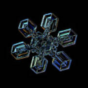Snowflake Photo - High Voltage IIi Art Print by Alexey Kljatov