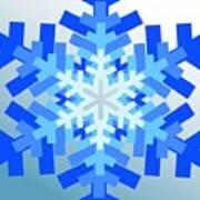 Snowflake Pile Art Print