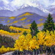 Snowing in the Mountains Art Print
