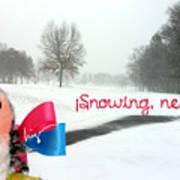 Snowing Nevando Art Print