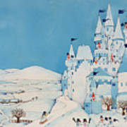Snowman Castle Art Print
