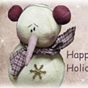 Snowman Greeting Card Art Print