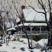 Snowy Cottage Art Print