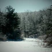 Snowy Creek Bend Art Print