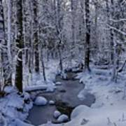 Snowy Creek Art Print