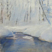 Snowy Creek Art Print