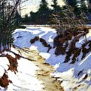 Snowy Ditch Art Print by Mary McInnis