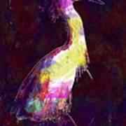 Snowy Egret Waterfowl Bird Large  Art Print