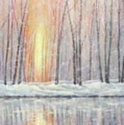 Snowy Glow Art Print
