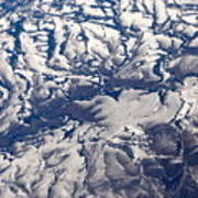 Snowy Landscape Aerial Art Print