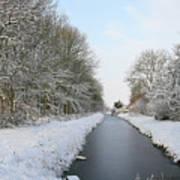 Frozen Scenery Along Canal Art Print