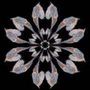 Snowy Owl Snowflake Art Print