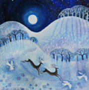 Snowy Peace Art Print