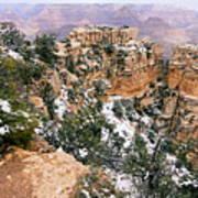 Snowy Pillar 2 - Grand Canyon Art Print