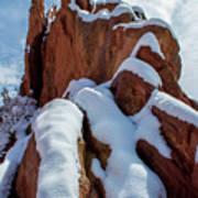 Snowy Ridge Art Print