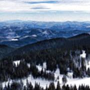 Snowy Ridges - Impressions Of Mountains Art Print