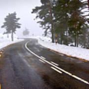 Snowy Road Art Print