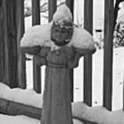 Snowy Statue Art Print