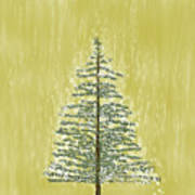 Snowy Tree Art Print