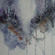 Snowy Web Trees Art Print