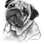 Snuggly Puggly Art Print
