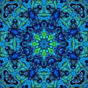 So Blue - 04v2 - Mandala Art Print
