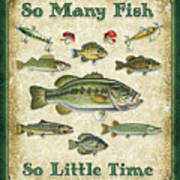 So Many Fish Sign Art Print by JQ Licensing