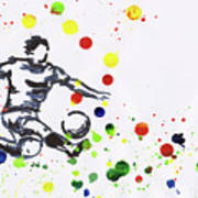 Soccer Player In Action Art Print