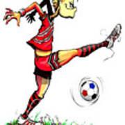 Soccer Striker Art Print