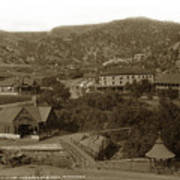 Soda Springs And Cliff House In Manitou, Colorado Art Print