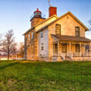 Sodus Point Lighthouse And Museum Art Print