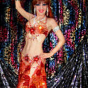 Sofia Metal Queen - Belly Dancer Model At Ameynra Art Print