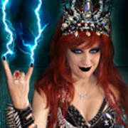Sofia Metal Queen. Metal Is Lifestyle Art Print