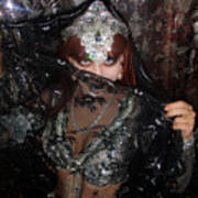 Sofia Metal Queen - Black Metal Bellydancer Model Art Print