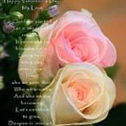 Soft Pastel Roses Art Print