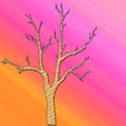 Soft Pastel Tree Abstract Art Print